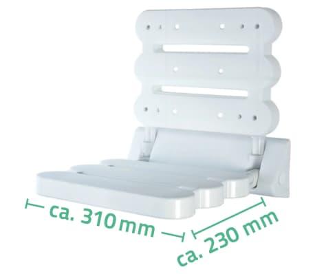 RIDDER Siège pliable de douche Blanc A00200101[4/4]