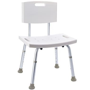 RIDDER Chaise de salle de bain Blanc 100 kg A00602101[1/5]