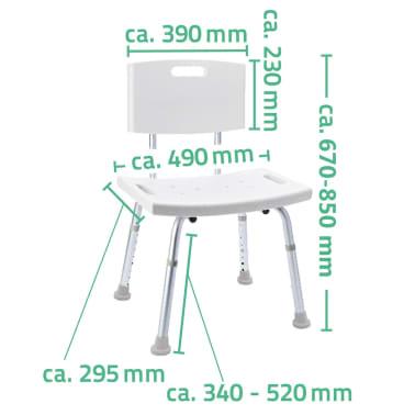 RIDDER Chaise de salle de bain Blanc 100 kg A00602101[5/5]