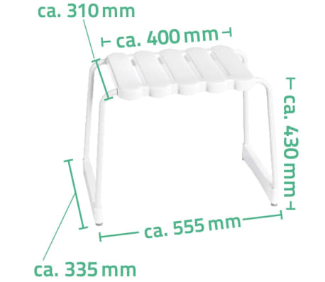 RIDDER Badhocker Weiß 100 kg A00500101[4/4]