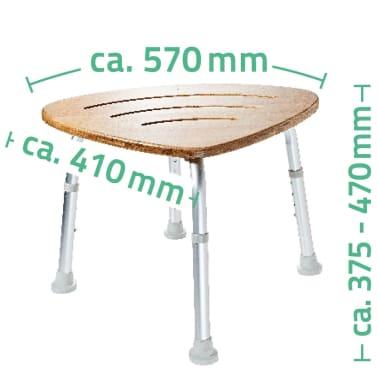 RIDDER Tabouret de salle de bain Bambou 150 kg A00502081[4/4]