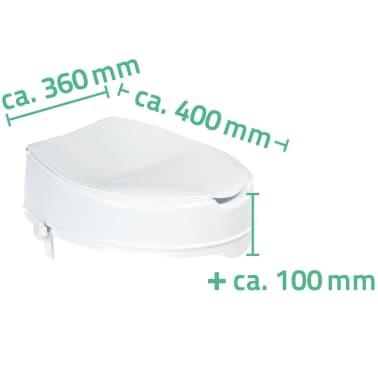 RIDDER Siège de toilette avec couvercle Blanc 150 kg A0071001[7/7]