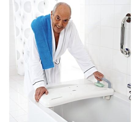 RIDDER Badewannenbrett Badewannensitz mit Haltegriff Weiß A0040101[2/3]