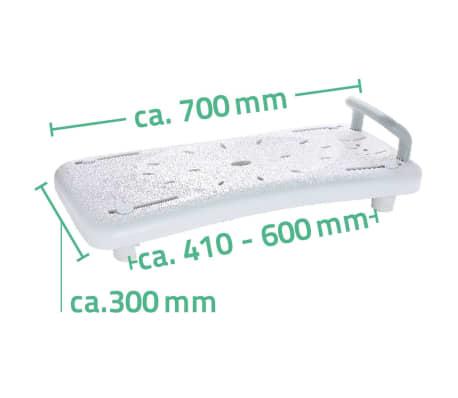 RIDDER Badewannenbrett Badewannensitz mit Haltegriff Weiß A0040101[3/3]