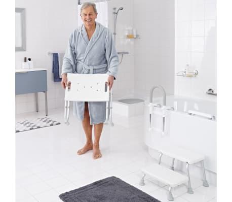 RIDDER Składany stołek prysznicowy, biały, do 150 kg, A0050301[2/7]