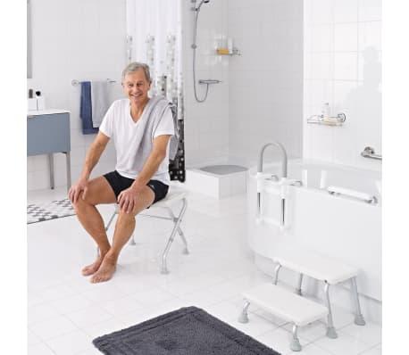 RIDDER Składany stołek prysznicowy, biały, do 150 kg, A0050301[5/7]