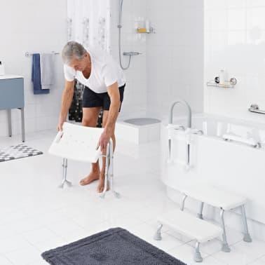 RIDDER Składany stołek prysznicowy, biały, do 150 kg, A0050301[3/7]
