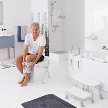 RIDDER Składany stołek prysznicowy, biały, do 150 kg, A0050301[4/7]
