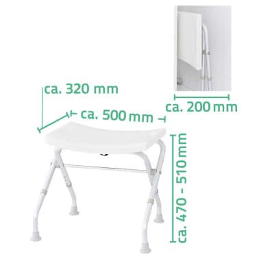 RIDDER Składany stołek prysznicowy, biały, do 150 kg, A0050301[7/7]