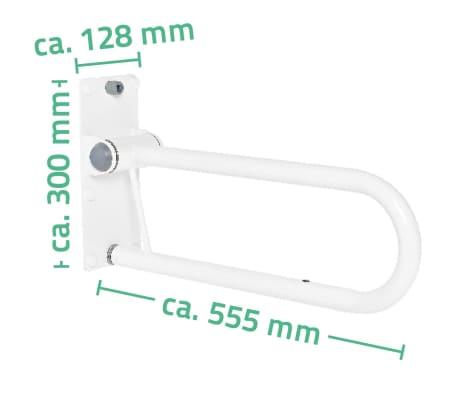 RIDDER Sklápacie madlo 55,5 cm 100 kg A0130101[6/6]