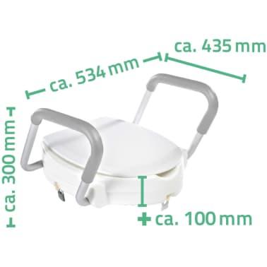 RIDDER Siège de toilette avec barre de sécurité Blanc 150 kg A0072001[7/7]