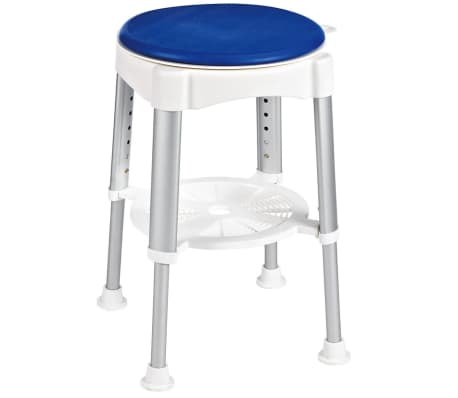 RIDDER Obrotowy stołek prysznicowy, niebieski, 150 kg, A0050401[1/8]