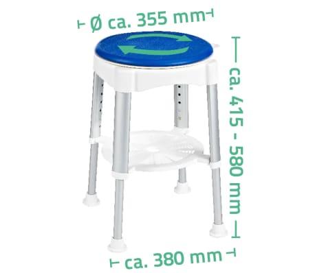 RIDDER Obrotowy stołek prysznicowy, niebieski, 150 kg, A0050401[8/8]