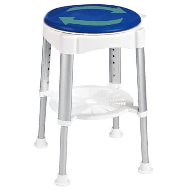 RIDDER Obrotowy stołek prysznicowy, niebieski, 150 kg, A0050401[2/8]