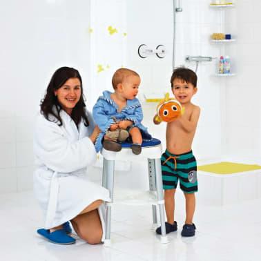 RIDDER Obrotowy stołek prysznicowy, niebieski, 150 kg, A0050401[5/8]