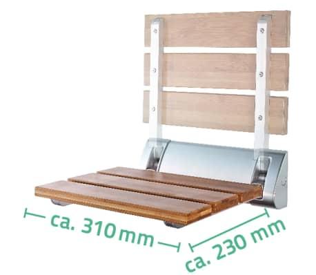 RIDDER Sulankstoma dušo sėdynė, bambukas, A0020200[4/4]