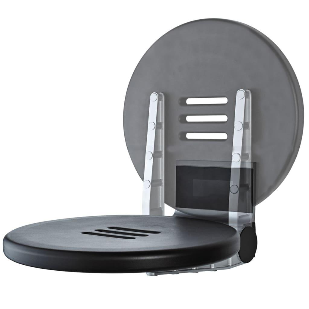 Afbeelding van RIDDER Douchezitje inklapbaar Premium 150 kg 34 cm zwart A0210010