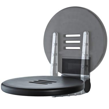 RIDDER Duschsitz Klappbar Premium Schwarz 34 cm 150 kg A0210010[1/7]