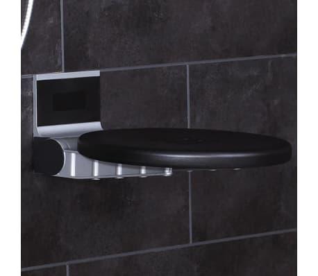 RIDDER Duschsitz Klappbar Premium Schwarz 34 cm 150 kg A0210010[2/7]