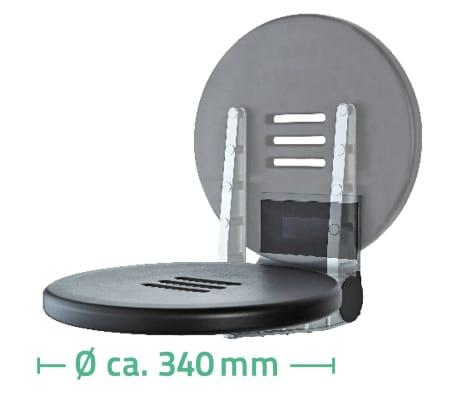 RIDDER Duschsitz Klappbar Premium Schwarz 34 cm 150 kg A0210010[7/7]
