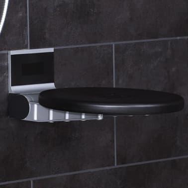 RIDDER Siège de douche pliant Premium Noir 34 cm 150 kg A0210010[2/7]