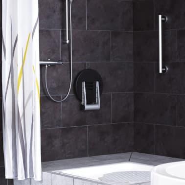 RIDDER Duschsitz Klappbar Premium Schwarz 34 cm 150 kg A0210010[5/7]
