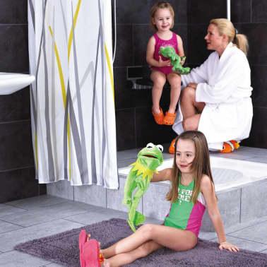 RIDDER Duschsitz Klappbar Premium Schwarz 34 cm 150 kg A0210010[6/7]