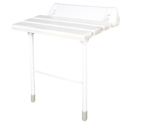 RIDDER Klappbarer Duschsitz Weiß XXL A0020301[2/3]