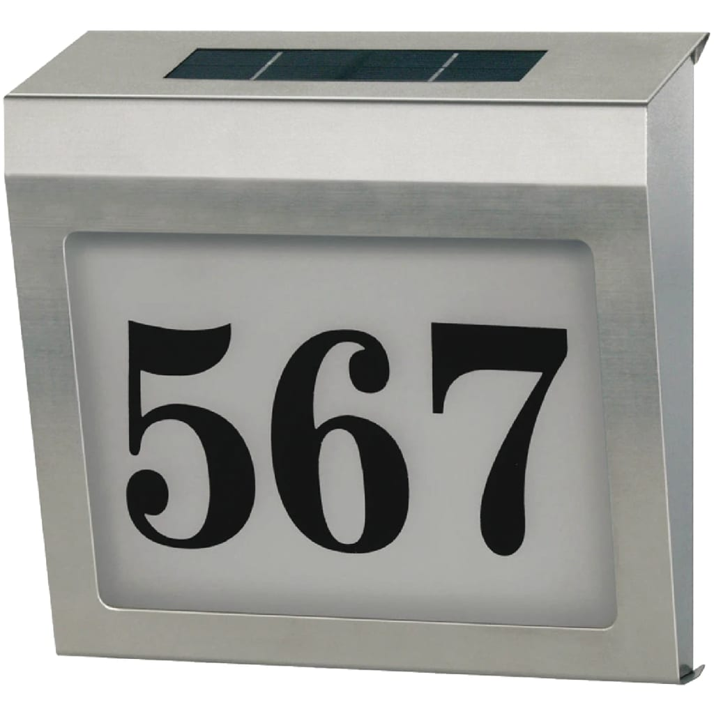 Afbeelding van Brennenstuhl Huisnummerbord op Zonne-Energie Verlicht RVS