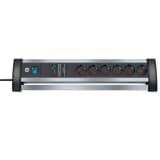Brennenstuhl Cable alargador 6 vias Alu-Office-Line 49 cm 1395000416