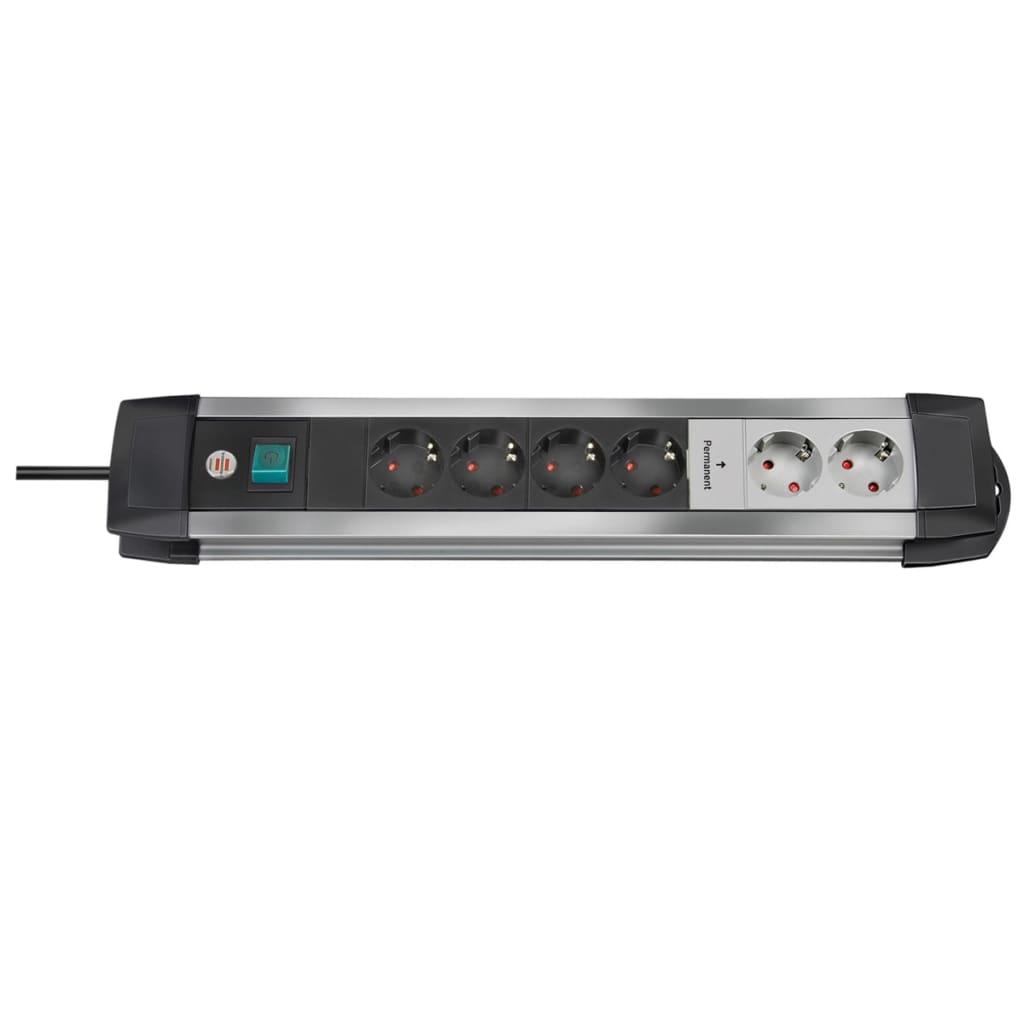 Afbeelding van Brennenstuhl Premium-Alu 6 stekkerdoos 3m kabel (H05VV-F 3G1,5)