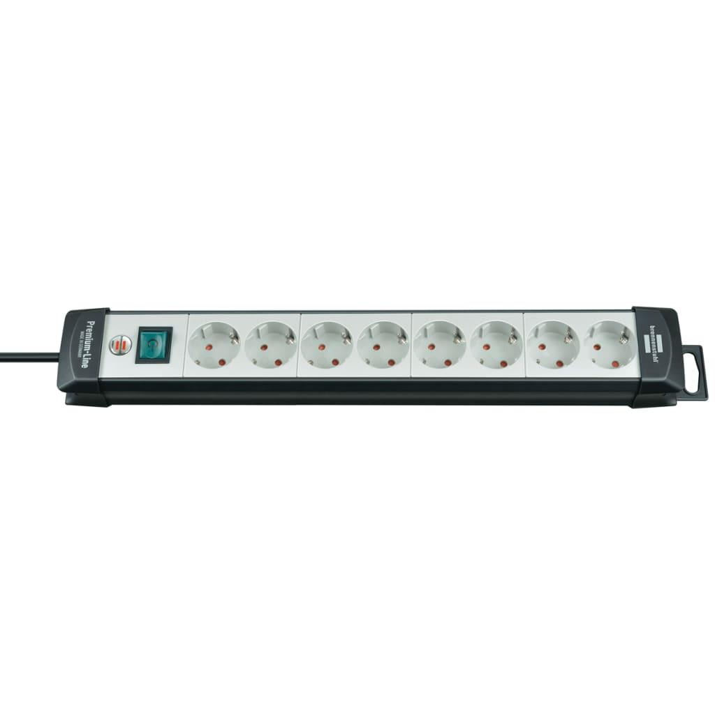 Afbeelding van Brennenstuhl Premium-Line 8-weg stekkerdoos 3m (zilver)