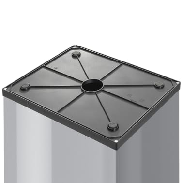 Hailo Cubo de basura Big-Box Swing tamaño XL 52 L plateado 0860-221[3/4]