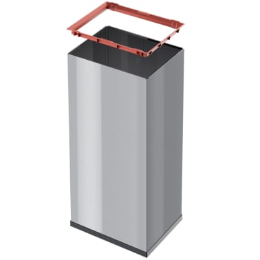 Hailo Cubo de basura Big-Box Swing tamaño XL 52 L plateado 0860-221[4/4]