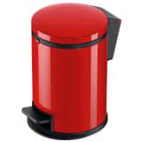Hailo Papelera con pedal Pure tamaño S 3 L roja 0504-040