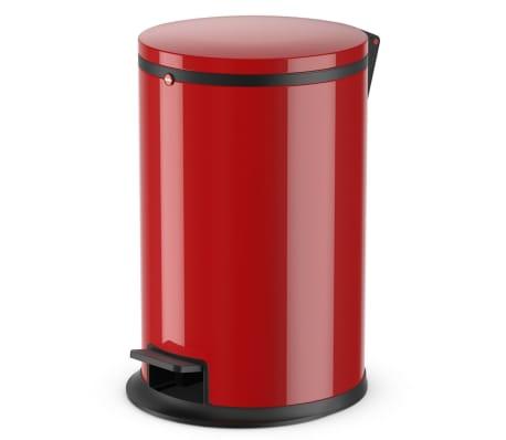 Hailo Papelera con pedal Pure tamaño M 12 L roja 0517-040[1/10]