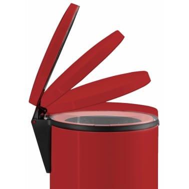 Hailo Papelera con pedal Pure tamaño M 12 L roja 0517-040[6/10]