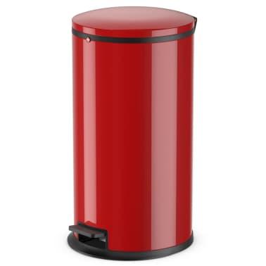 Hailo Cubo de basura con pedal Pure tamaño L 25 L rojo 0530-040[1/8]