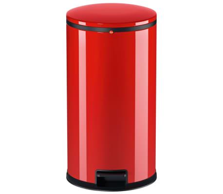 Hailo Cubo de basura con pedal Pure tamaño L 25 L rojo 0530-040[2/8]