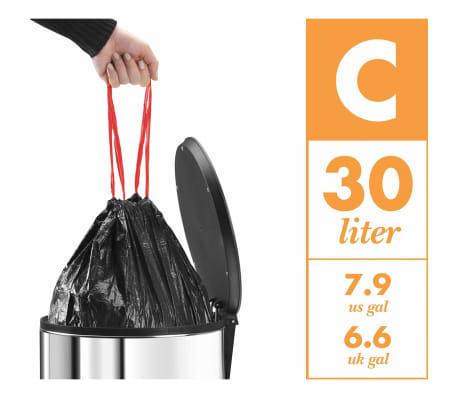 Hailo Cubo de basura con pedal Pure tamaño L 25 L rojo 0530-040[8/8]