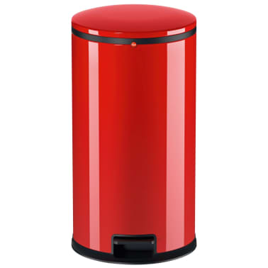 Hailo Cubo de basura con pedal Pure tamaño L 25 L rojo 0530-040[3/8]