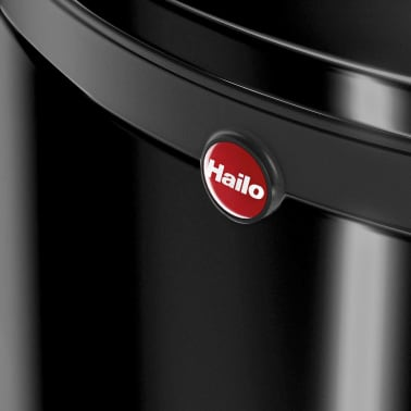 Hailo Cubo de basura con pedal Pure tamaño L 25 L negro 0530-060[8/8]