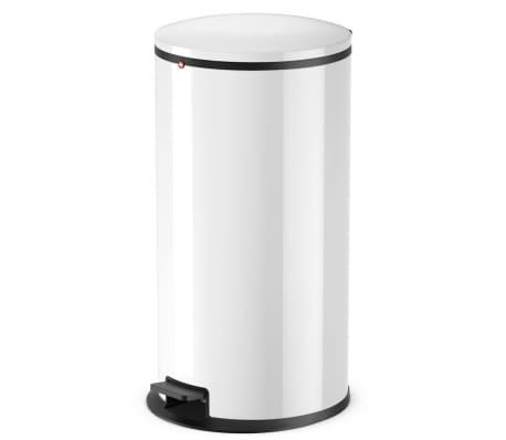 Hailo Cubo de basura con pedal Pure tamaño XL 44 L blanco 0545-030[1/7]