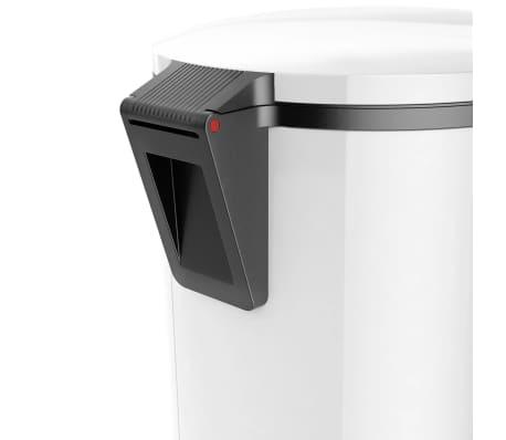 Hailo Cubo de basura con pedal Pure tamaño XL 44 L blanco 0545-030[5/7]