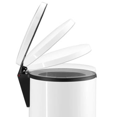 Hailo Cubo de basura con pedal Pure tamaño XL 44 L blanco 0545-030[3/7]