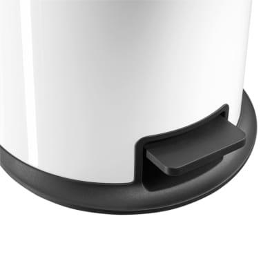 Hailo Cubo de basura con pedal Pure tamaño XL 44 L blanco 0545-030[4/7]