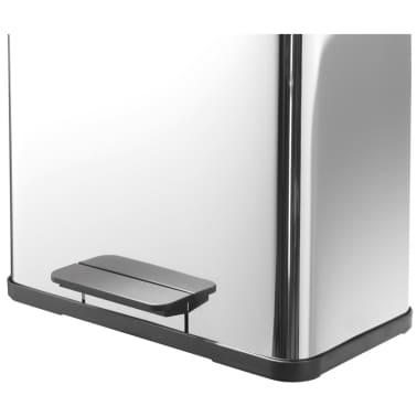 Hailo Cubo con pedal Oko Duo Plus tamaño L 17+9 L acero inox 0630-200[3/11]