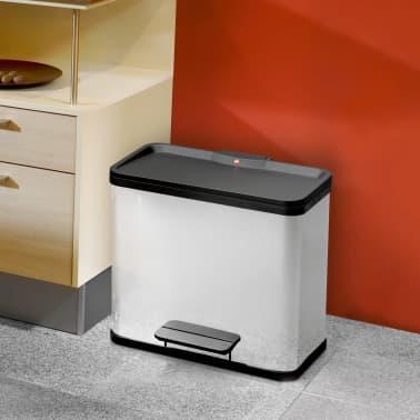 Hailo Cubo con pedal Oko Duo Plus tamaño L 17+9 L acero inox 0630-200[7/11]