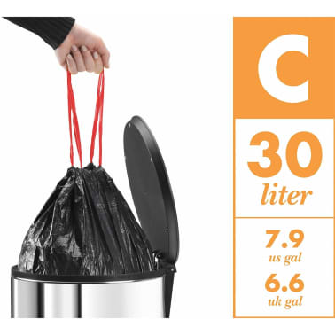Hailo Cubo con pedal Oko Duo Plus tamaño L 17+9 L acero inox 0630-200[9/11]