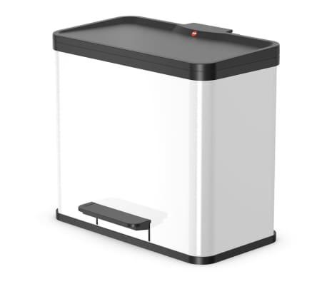 Hailo Cubo con pedal Oko Duo Plus tamaño L 17+9 L blanco 0630-230[1/10]